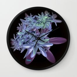 Blue Beauty Wall Clock
