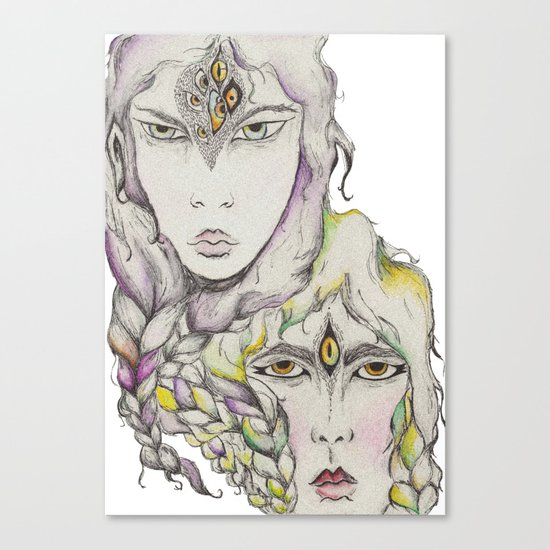 Wood Elves Canvas Print