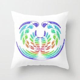 rainbow aggressive Throw Pillow