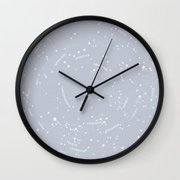 Constellation Map - Gray Wall Clock