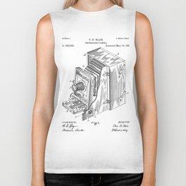 Lucidograph Camera Patent - Photography Art - Black And White Biker Tank