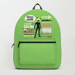 Cat Noir Quotes Backpack