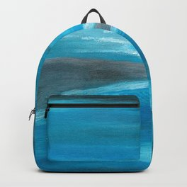 Blue Abstract Art In the Middle of the Ocean Backpack