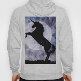 Blue and Pink Unicorn Watercolor Hoody