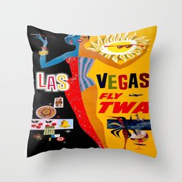 Vintage poster - Las Vegas Throw Pillow