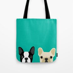 Boston Terrier & French Bulldog 2 Tote Bag