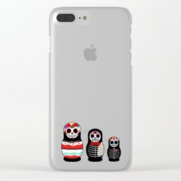 Halloween Russian dolls Clear iPhone Case