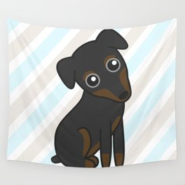 Rylee the Min Pin Wall Tapestry