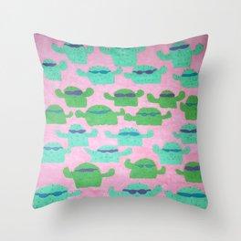 Cool Cactus Pattern Throw Pillow