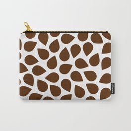 Brown Petal Pattern Carry-All Pouch