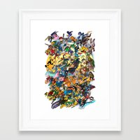 smash bros Framed Art Prints featuring Super Smash Bros! by I am ARG Comic Prints and more!