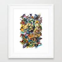super smash bros Framed Art Prints featuring Super Smash Bros! by I am ARG Comic Prints and more!