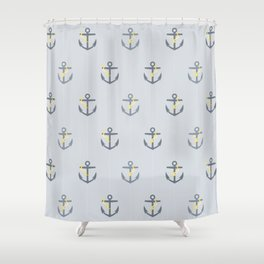 Stormy Nautical Pattern 1 Shower Curtain