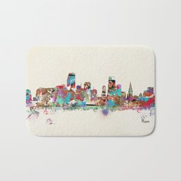 Miami Florida skyline Bath Mat