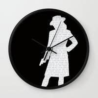 agent carter Wall Clocks featuring Agent Carter by Kaitlin Andesign