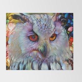 Ethereal Owl Throw Blanket