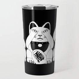 Three Smart Cats Travel Mug