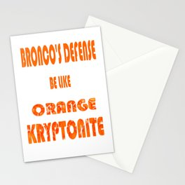 BRONCOS D Stationery Cards