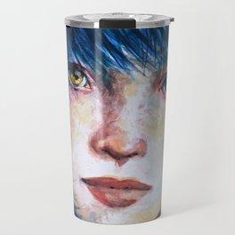 Blue hair Travel Mug