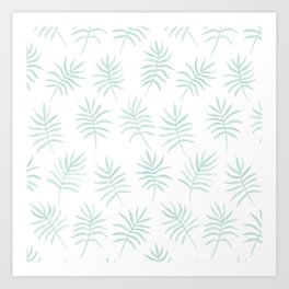 Mint Palms Art Print