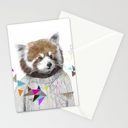 RED PANDA by Jamie Mitchell and Kris Tate Stationery Cards