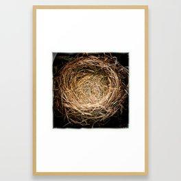 a handmade nest Framed Art Print