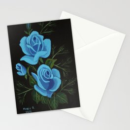 Blue Roses Stationery Cards