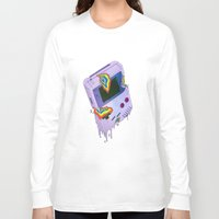 gameboy Long Sleeve T-shirts featuring Gameboy Melt by KING BOZU
