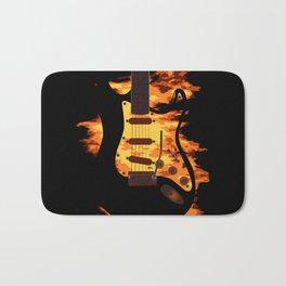 Burning Guitar Bath Mat