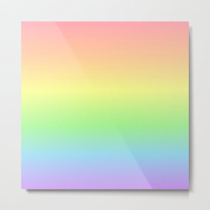 Pastel Rainbow Gradient Metal Print