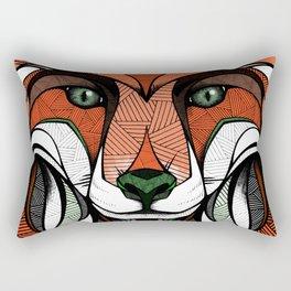 Fox // Colored Rectangular Pillow