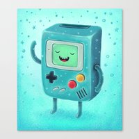 game Canvas Prints featuring Game Beemo by Lime