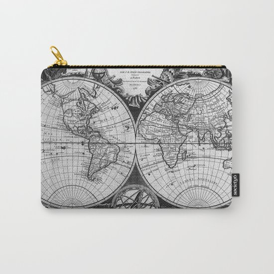 Vintage Old Map Design Carry-All Pouch