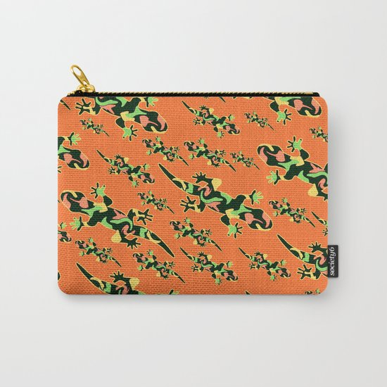Lizards- tribal Carry-All Pouch