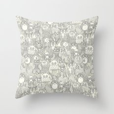 pencil pinatas ivory Throw Pillow