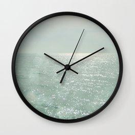 The Silver Sea Wall Clock