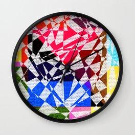 colors drawing Wall Clock