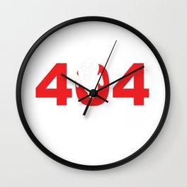 Error 404 Costume Not Found Halloween Party Shirt Wall Clock