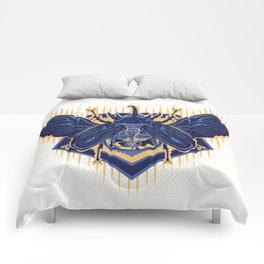 deadly skull beetle Comforters
