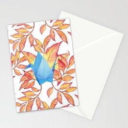 Autumn Origami Paper Crane Stationery Cards