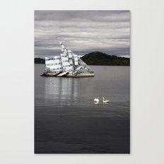 Swans And Glass Canvas Print
