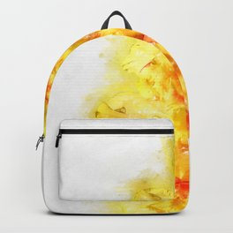 yellow gladiolus watercolor Backpack