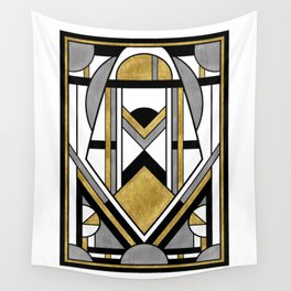 Up and Away - Art Deco Spaceman Wall Tapestry