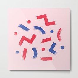 Party Colour Metal Print