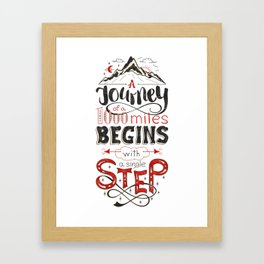 lettring quote journey Framed Art Print