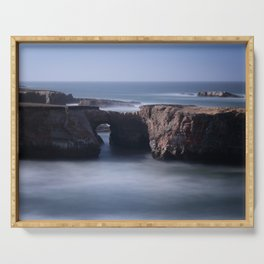 Keyhole Rock Arches Point Arena California Serving Tray