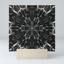 boho style black white Mini Art Print