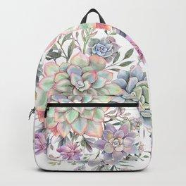 succulent watercolor 8 Backpack
