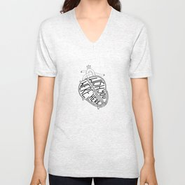 Wish You Were Here (Inverted) Unisex V-Neck