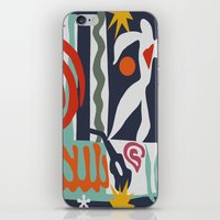 matisse iPhone & iPod Skins featuring Inspired to Matisse by Chicca Besso